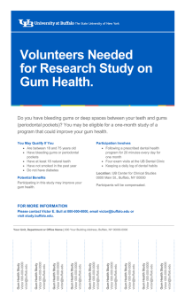 Research study flyer template with tear-offs (8.5x14).