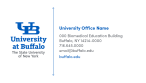 A UB office business card front.