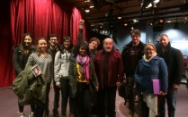 ArtsOne students with Director Saul Elkin following a performance of After the Revolution