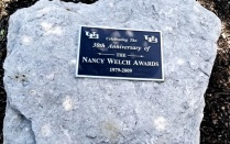 Nancy Welch commemorative marker in the Ellicott Complex.