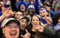 Bulls Win! NCAA Basketball Student Section 2018.