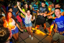 students dancing at a dance party.