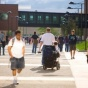 Student with disability navigates north campus University at Buffalo.