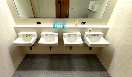 Ellicott Complex Standard Shared Bathroom (Panoramic View).