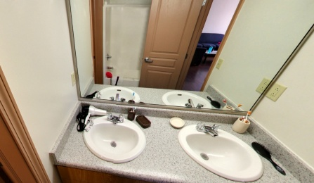 Hadley Village 4 bed 2 bath Townhouse Bathroom (Panoramic View)