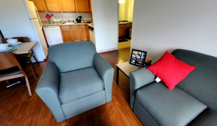 South Lake Village 2 bed 1 bath Living Room (Panoramic View).