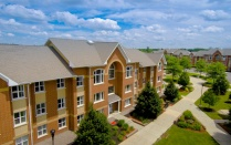 Beautiful area shot of South Lake Village Apartments.