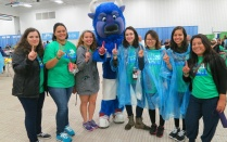 Students and Billy Buffalo.
