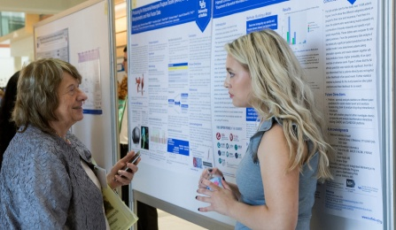 Dr. Jessy Alexander and her 2014 CLIMB PRO student, Maria Ritchie at the UB Summer Research Day.