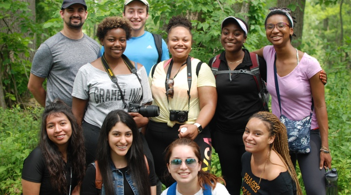 CLIMB UP students 2018 at Reinstein Woods Nature Preserve
