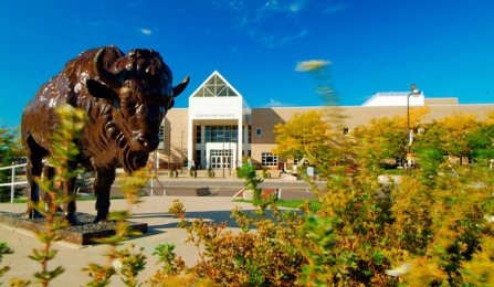 Photo of UB's Center for the Arts, North Campus. .