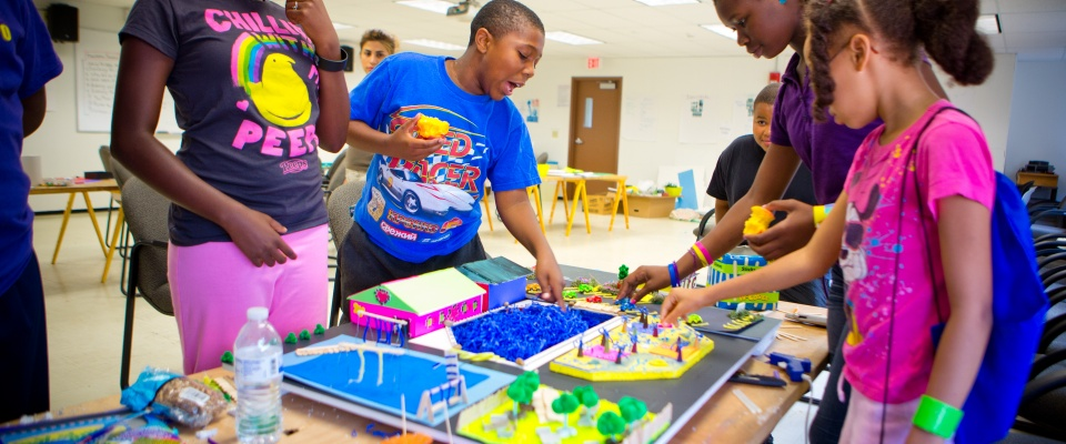 Children learning at UB's one of many summer camp options for K-12 youth in WNY.