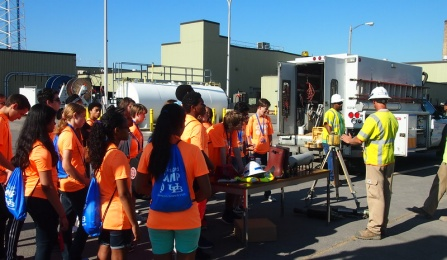 High schoolers at UB's School of Engineering and Applied Sciences and National Grid's engineering summer camp to introduce students to careers in STEM.