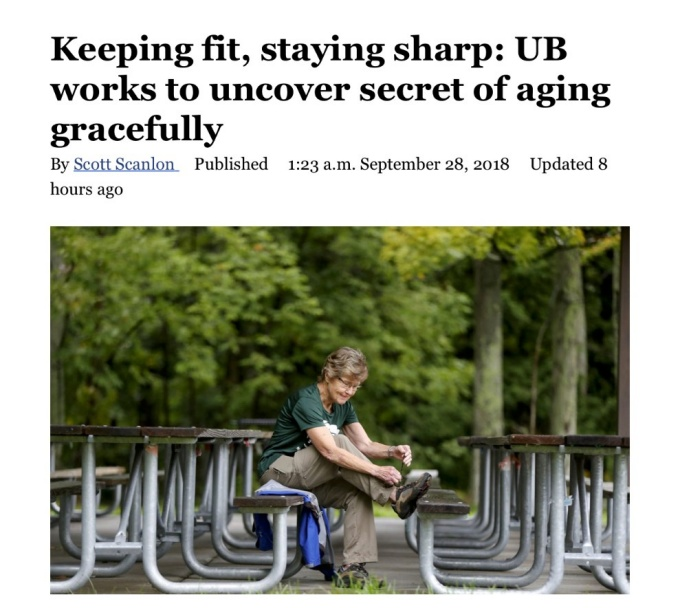 Buffalo News Refresh 2018 Article on UB Center for Successful Aging.