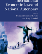 Cover for International Economic Law and National Autonomy.