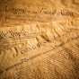 A picture of the declaration of independence.