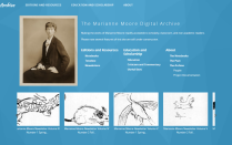 Marianne Moore Digital Archive project page with Moore's photo.
