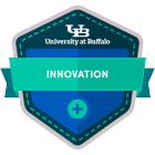 innovation digital badge icon.