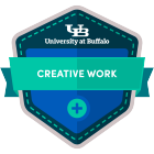 creative work digital badge icon.