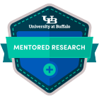 mentored research digital badge icon.