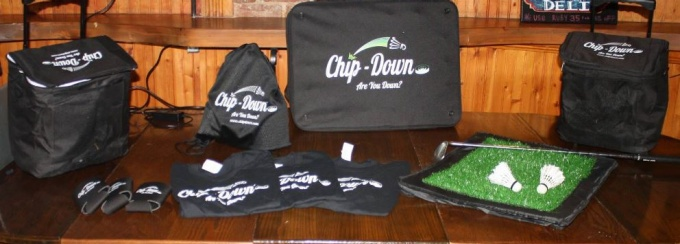 Chip-Down is a portable golf game.