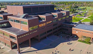 Aerial view of Capen Hall.