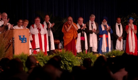 A group of religious leaders, including the Dalai Lama