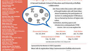 Women in STEM Webinar flyer.