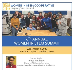 Women in STEM flyer.