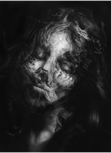 Image of a painting of a ghostly girl, Tenuous, by Tricia Butski.