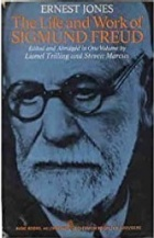 "Blue tinted portrait image of Sigmund Freud. The title ""The Life and Works of Sigmund Freud"" appear in gold capital letters across his forehead."