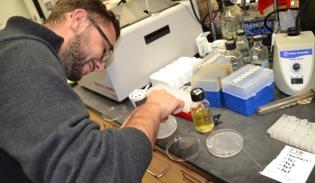 UB Law student learns in science lab