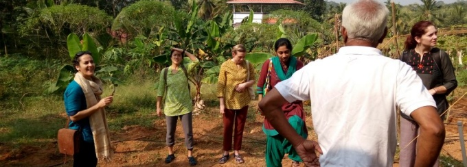 Dr. Samina and her team in Kerala, India.