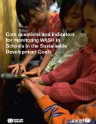 Core Questions and Indicators for monitoring WaSH in schools cover page.