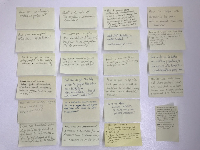 "Above: a sample of ""How to…?"" questions posed by participants during the interactive session."