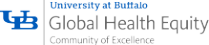 UB Community of Excellence in Global Health Equity Logo.