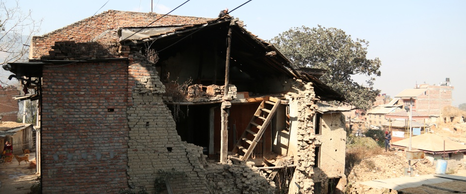 Image of a destroyed home in Nepal-Photo by Sadi Dhakhwa, January 2018