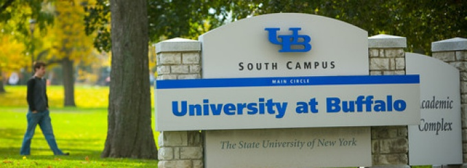Welcome sign at the University at Buffalo South Campus