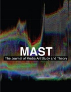 "The cover of ""MAST: The Journal of Media Art Study and Theory.""."