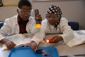 Buffalo Public School students participating in Science Week activities.