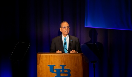 University at Buffalo President Satish K. Tripathi delivers his 2019 State of the University Address.