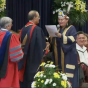 President Tripathi receives an honorary degree from Brock University.