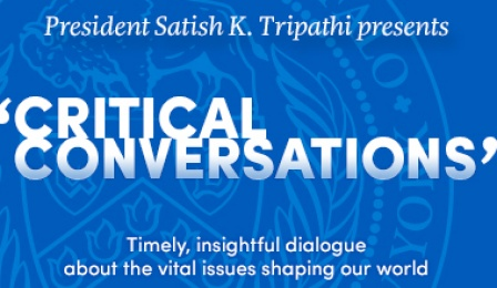 Graphic promoting Critical Conversations program.
