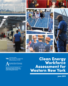Clean Energy Workforce Assessment for Western New York report cover.