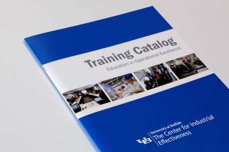 UB TCIE training catalog brochure.