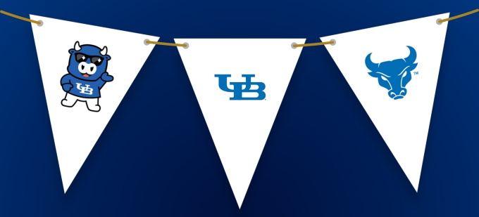 UB Spirit Garland Flags.