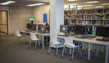 HSL Library computing site in Abbott Hall.
