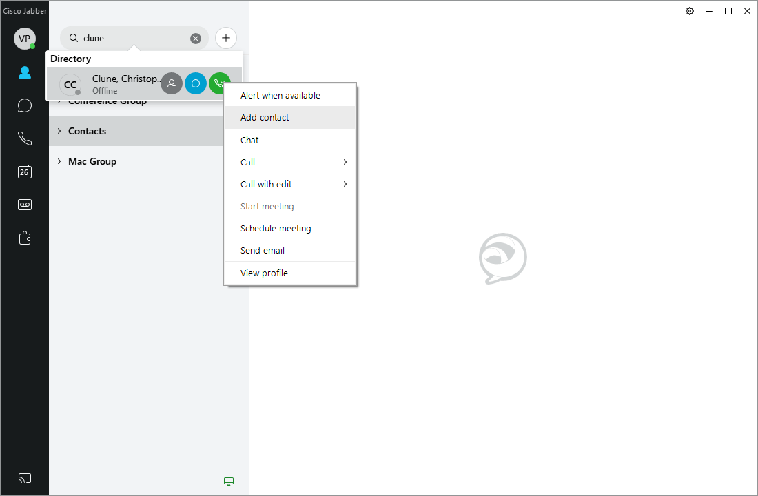 Adding and Removing Contacts in Jabber - UBIT - University at Buffalo