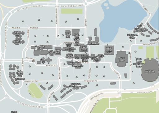 University At Buffalo North Campus Map Campus Maps   University at Buffalo